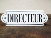 French enamel sign - Directeur
